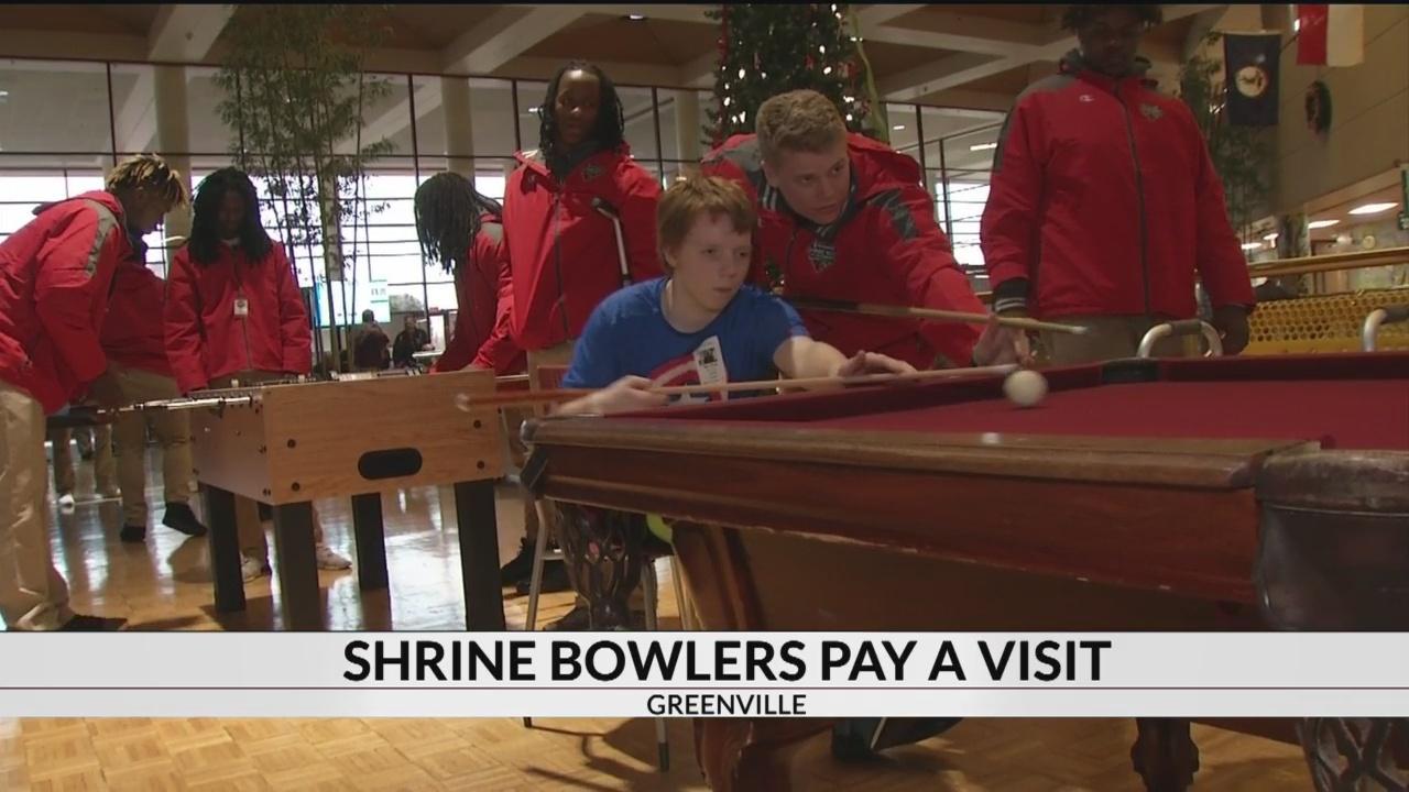 Shrine Bowlers Visit Children's Hospital