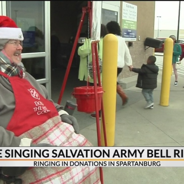 Singing bell ringer in Spartanburg rings in top donations