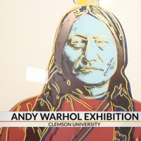 Andy Warhol original artwork on display at Clemson University