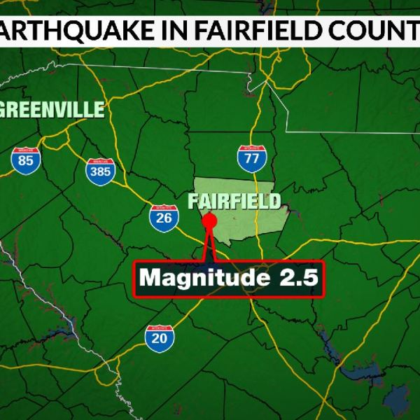 Earthquake in Fairfield Co.