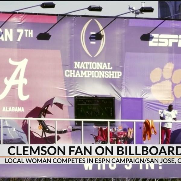 Clemson graduate living on ESPN Billboard for 12 days