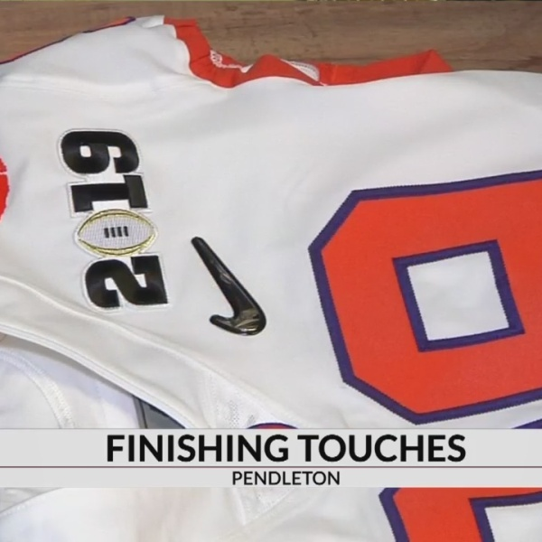 Pendleton shop puts finishing touches on Clemson championship jerseys