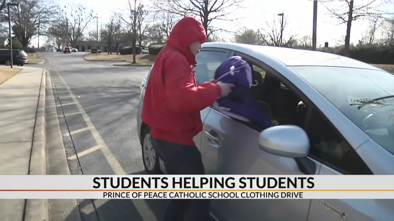 Students helping students in Prince of Peace clothing drive