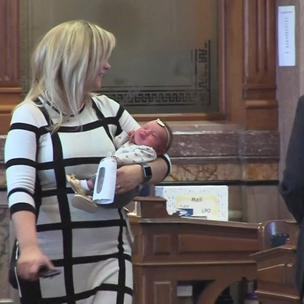 VIDEO: Baby in the Statehouse