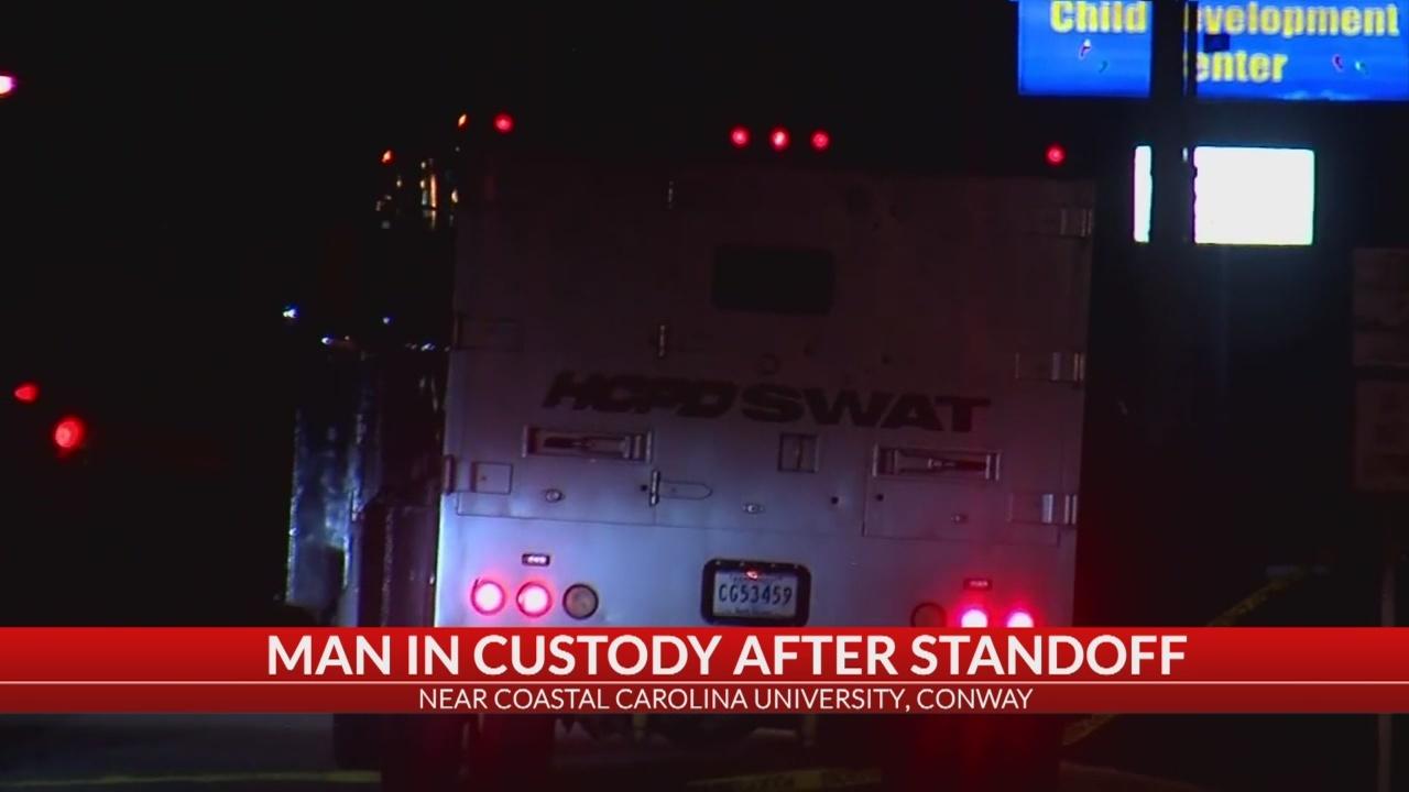 1 in custody after standoff near CCU
