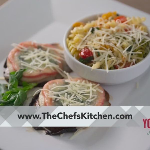 Chef's Kitchen - Stuffed Portabella Mushrooms with Tri Color Pasta
