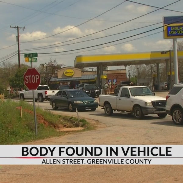 Coroner responding after body found in vehicle in Greenville Co.