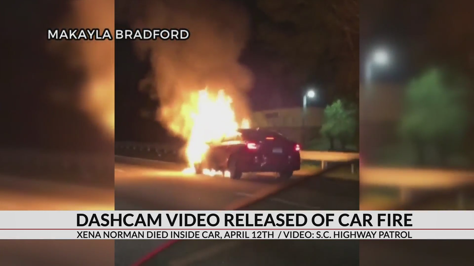 Dash cam video shows moments leading up to death of 1-year-old girl who died in burning car