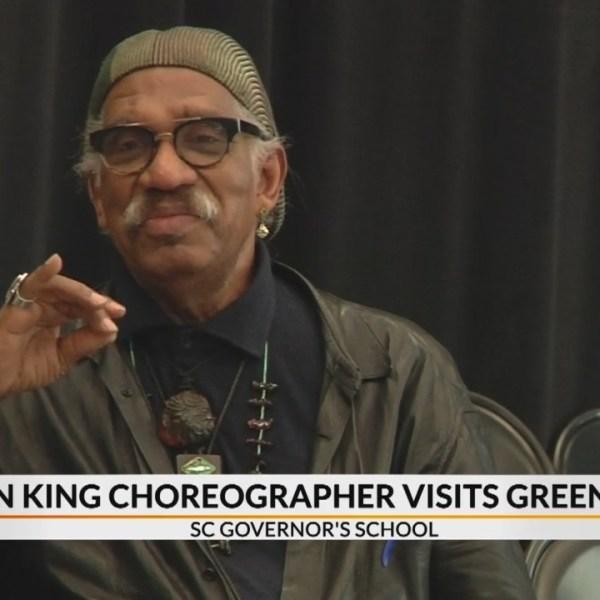 Former Tony Award winning Lion King choreographer visits Greenville
