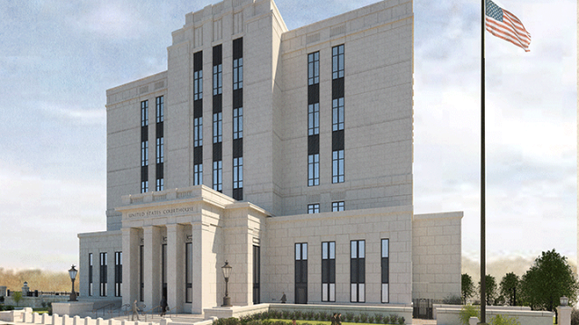 Groundbreaking ceremony held for new federal courthouse in Greenville