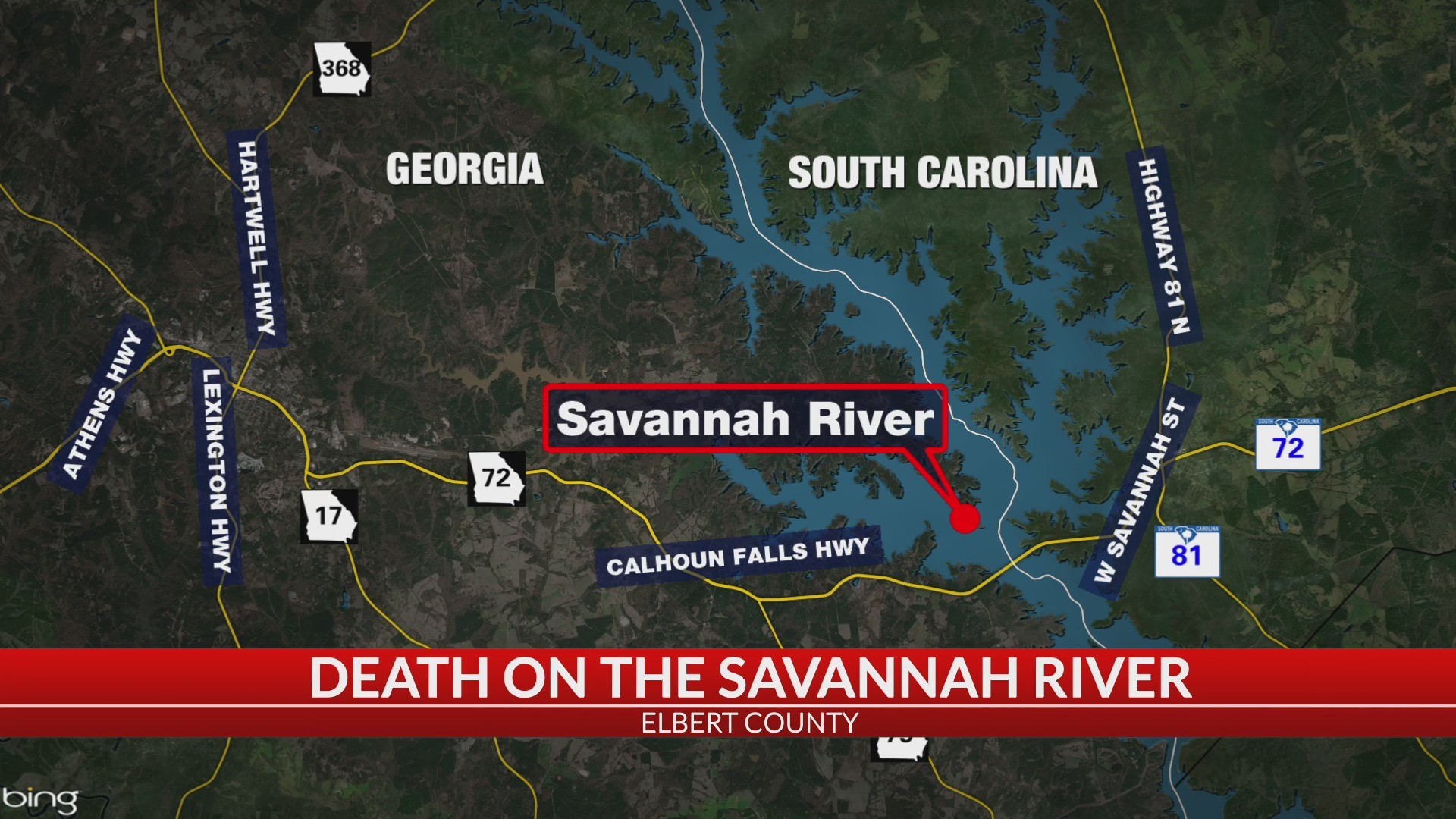 1 dead after incident on Savannah River, Elbert Co  coroner says