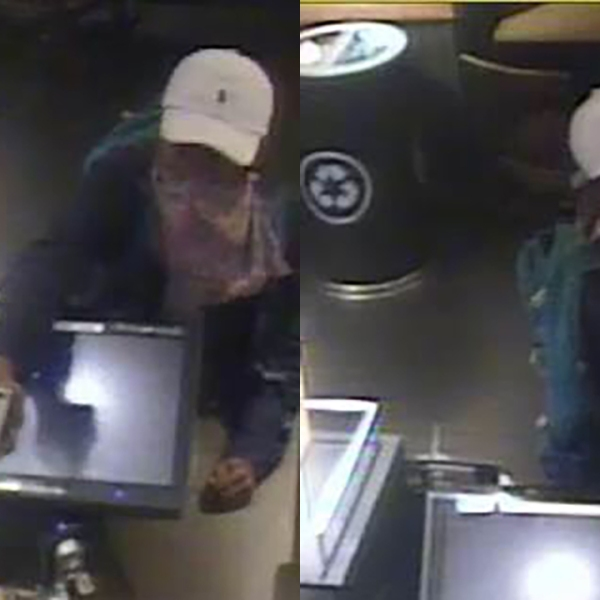 Surveillance photos show an armed suspect robbing the Starbucks store on All Souls Crescent in Asheville on Monday, June 17, 2019