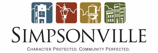 Current logo for the City of Simpsonville