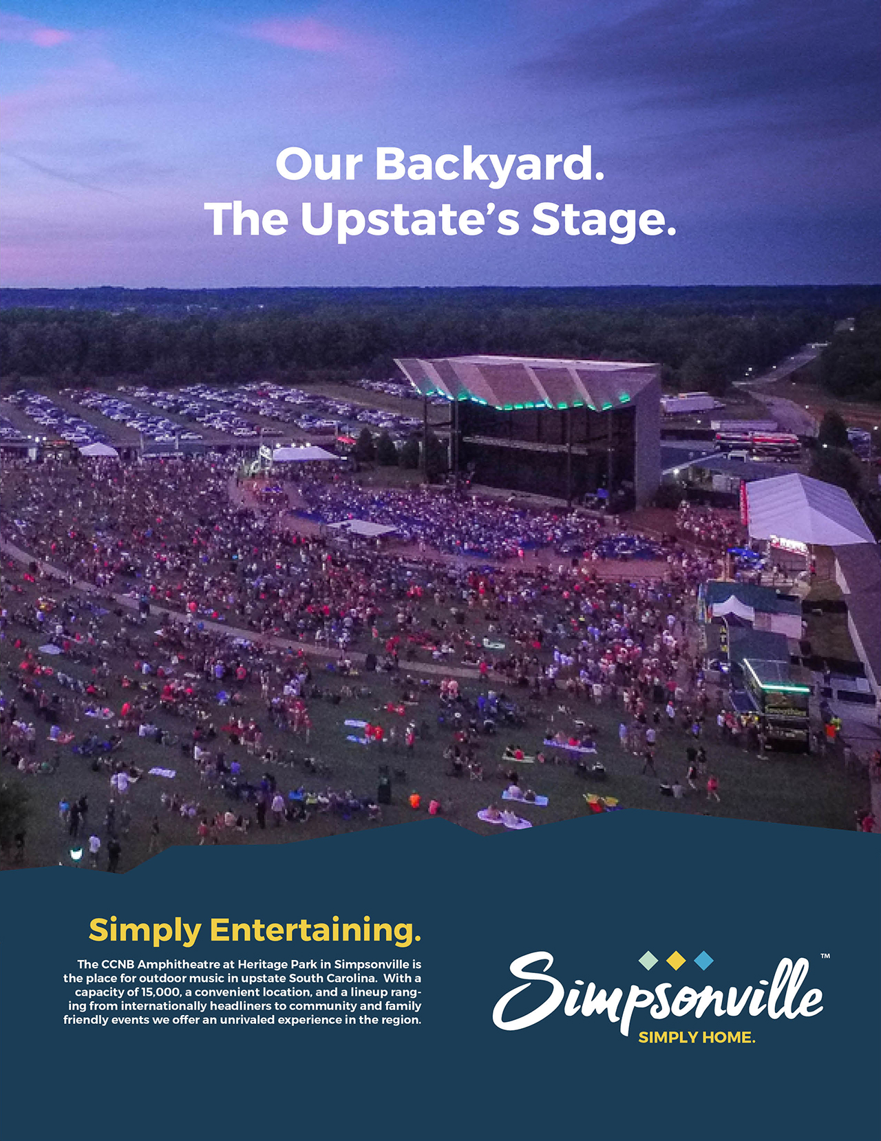 Proposed new logo for City of Simpsonville featured in an advertisement example