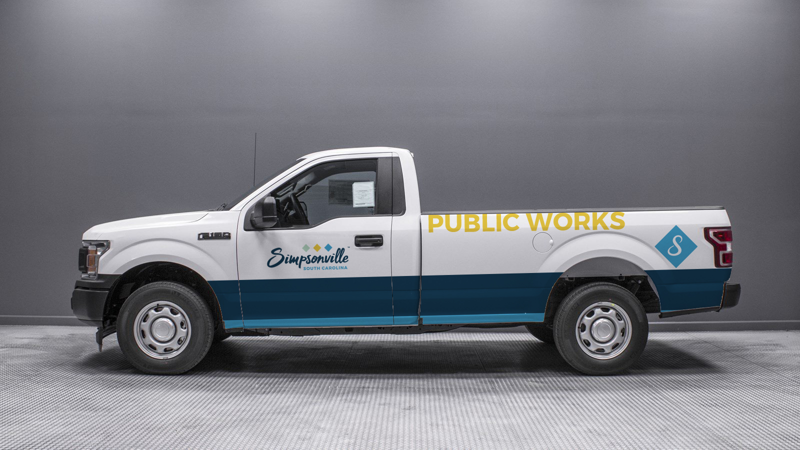 Proposed new branding for City of Simpsonville vehicles