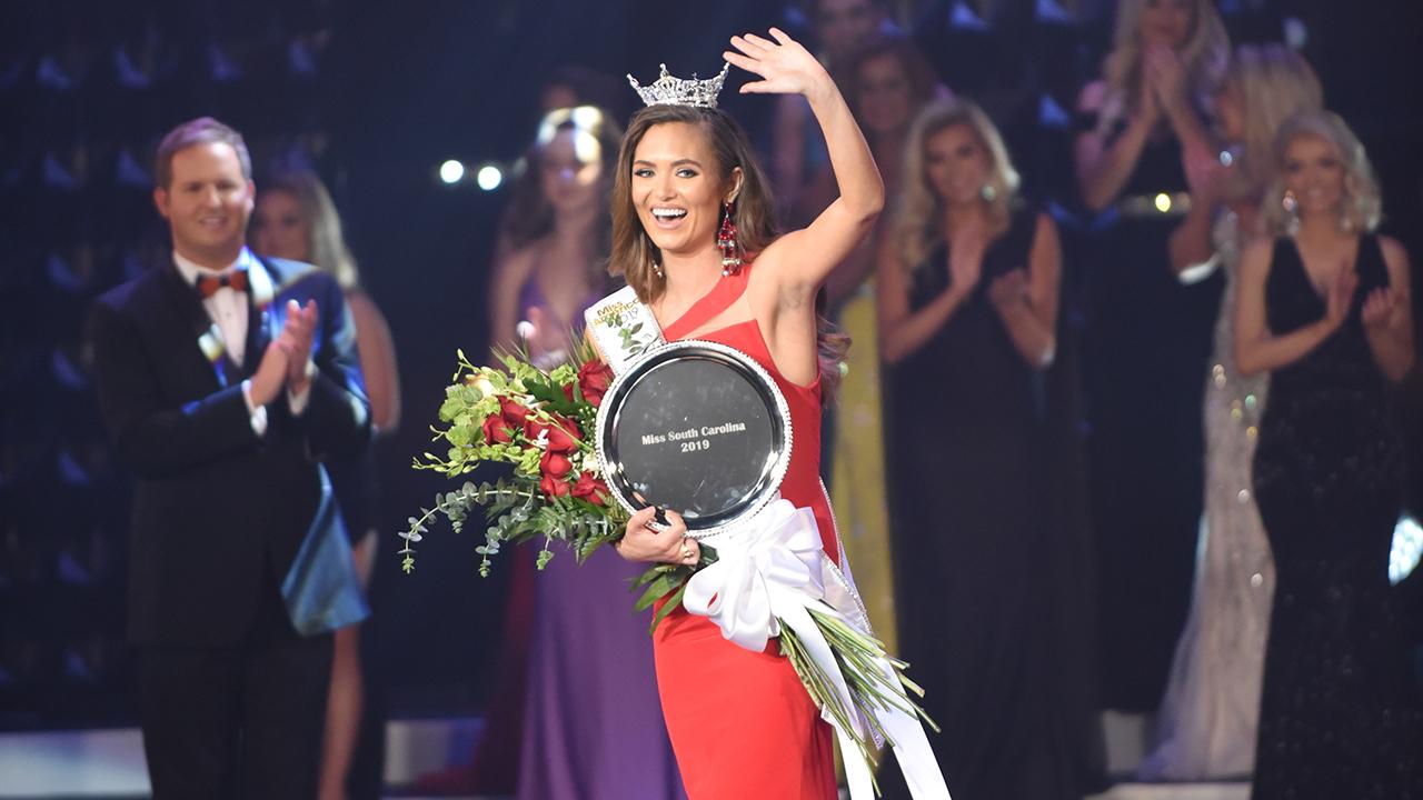 Morgan Nichols crowned Miss South Carolina at Township Auditorium in Columbia, South Carolina, June 29, 2019