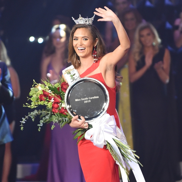 Morgan Nichols crowned Miss South Carolina at Township Auditorium in Columbia, South Carolina, June 29, 2019