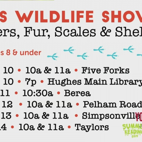 PAWS Animal Wildlife Sanctuary Coming To The Library