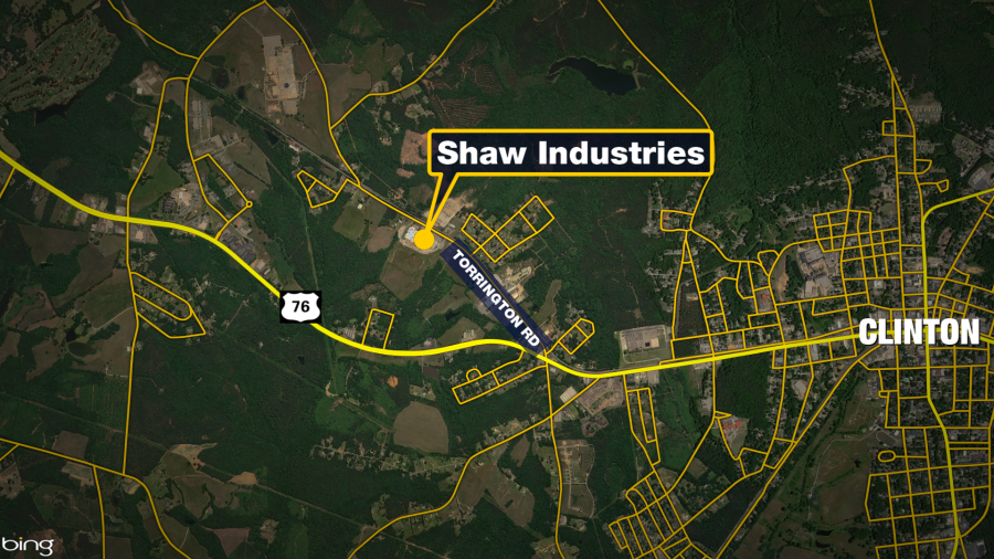 Shaw Industries Clinton map