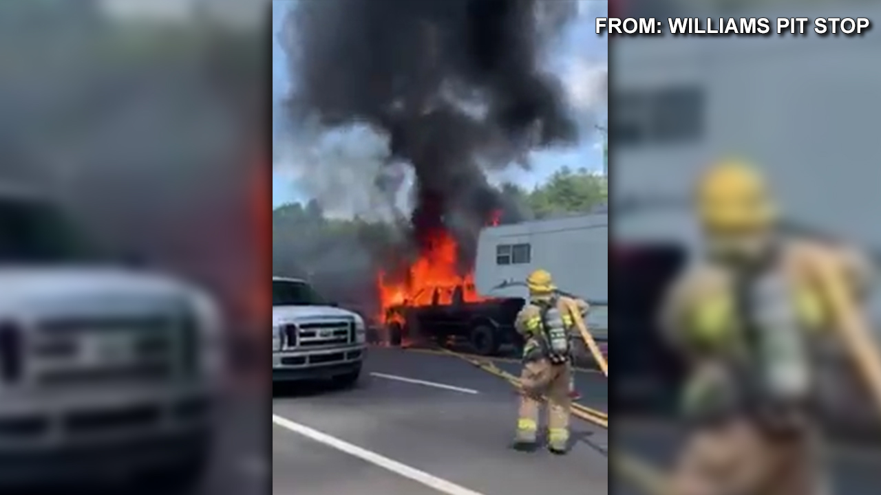 US News: VIDEO: Truck catches fire along US-25 in Greenville