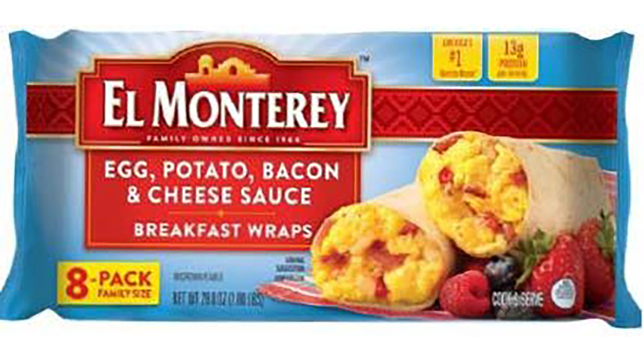 el monterey breakfast wrap recall label