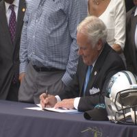 Panthers' ceremonial bill signing