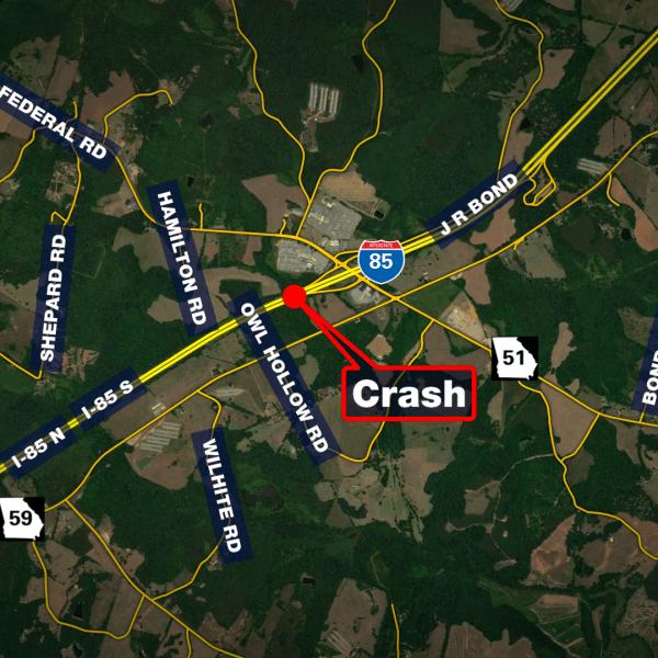 I-85 crash in Franklin County
