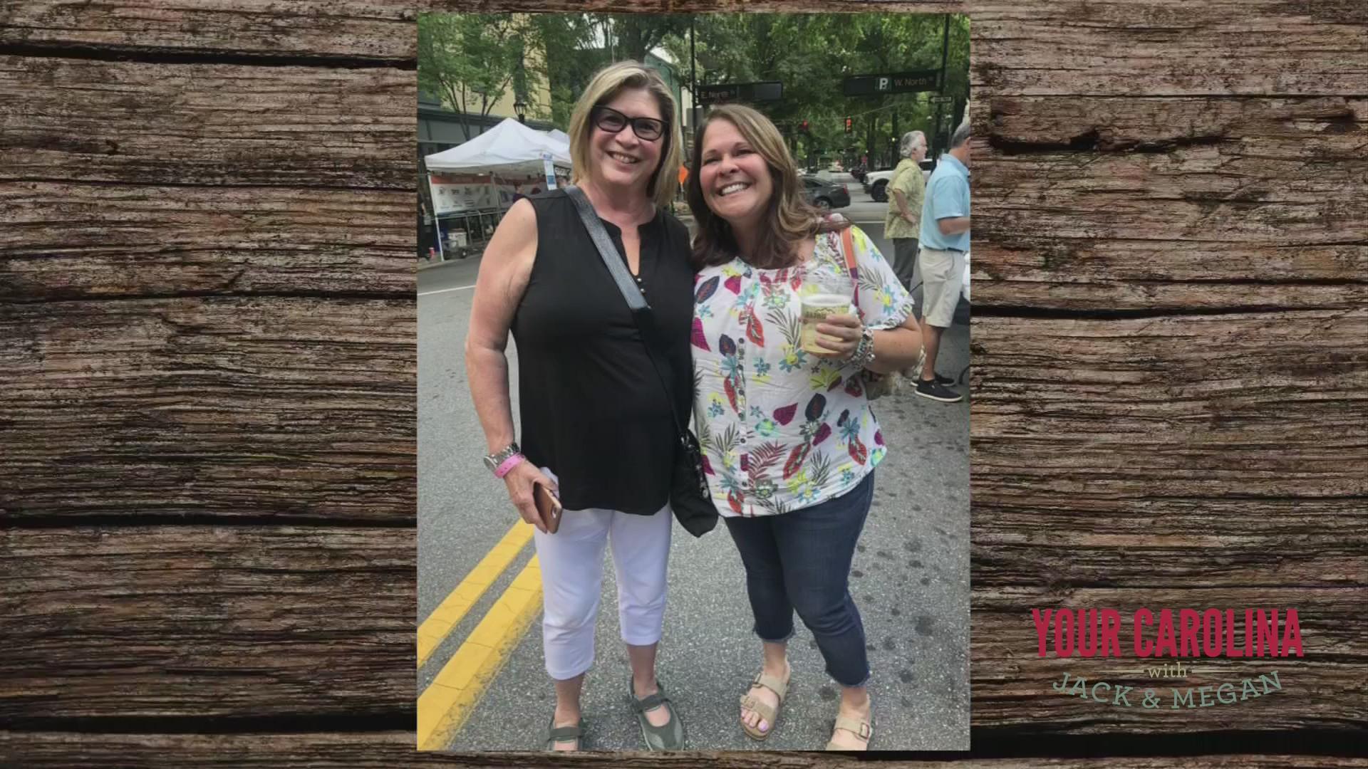 Megan captures a Mom and daughter reunion
