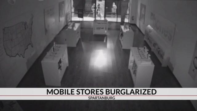Detectives investigating string of burglaries at mobile stores in Spartanburg