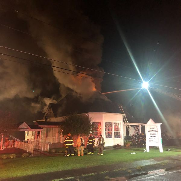 Fire at Hodges Presbyterian Church