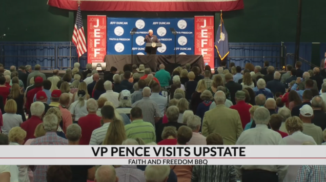 VP Pence speaks to thousands at Faith and Freedom BBQ