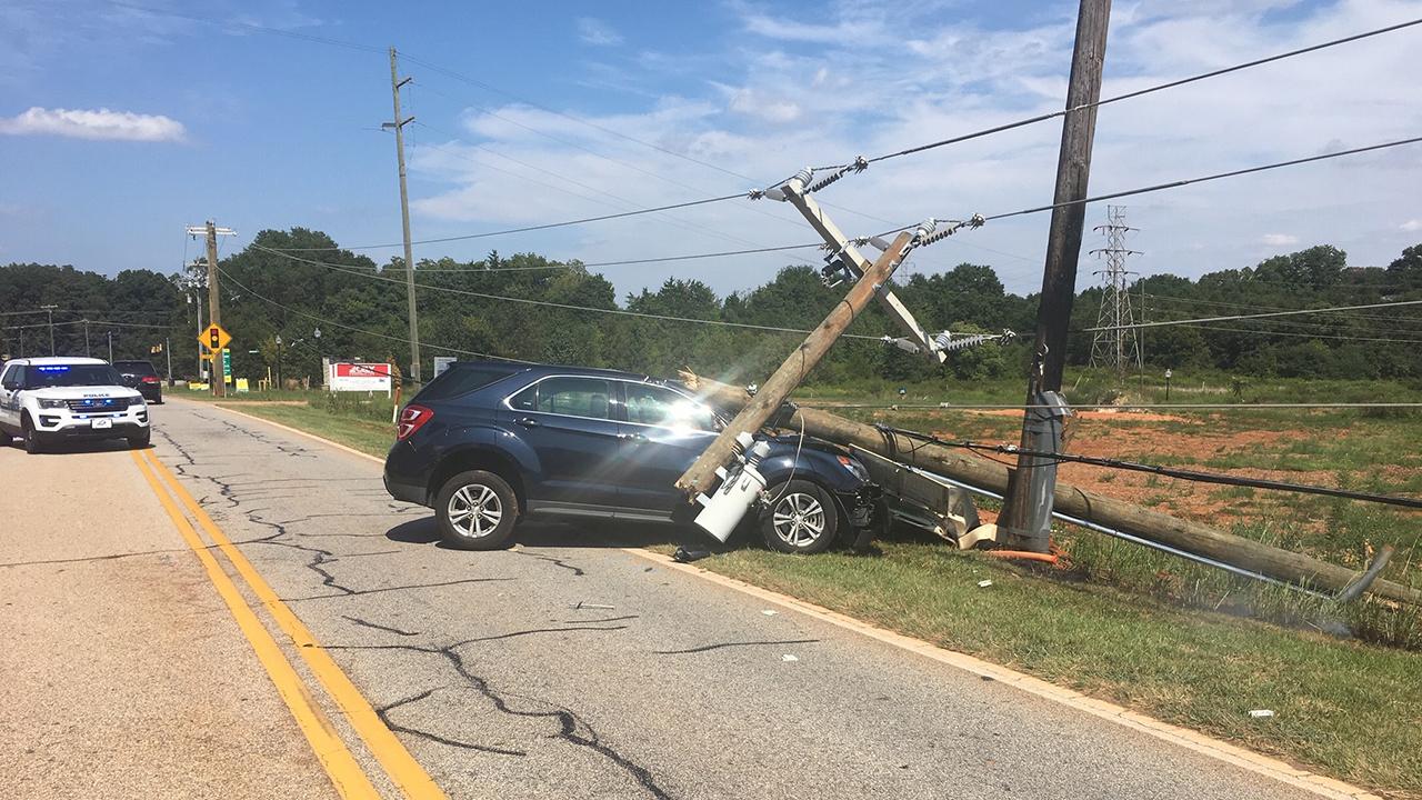 Crash along Brushy Creek Road near Suber Road in Greer, September 4, 2019