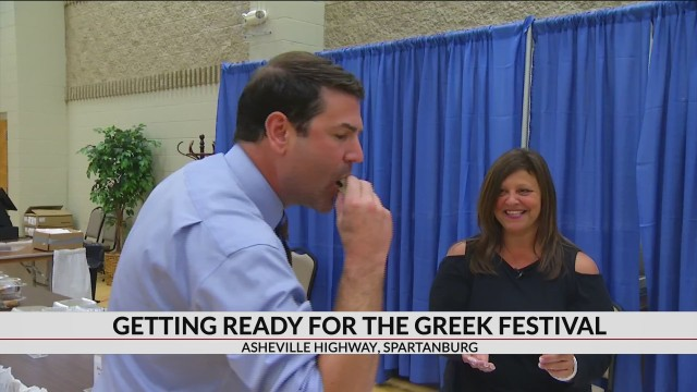 Opa! See how all that food is prepared before the Greek Festival