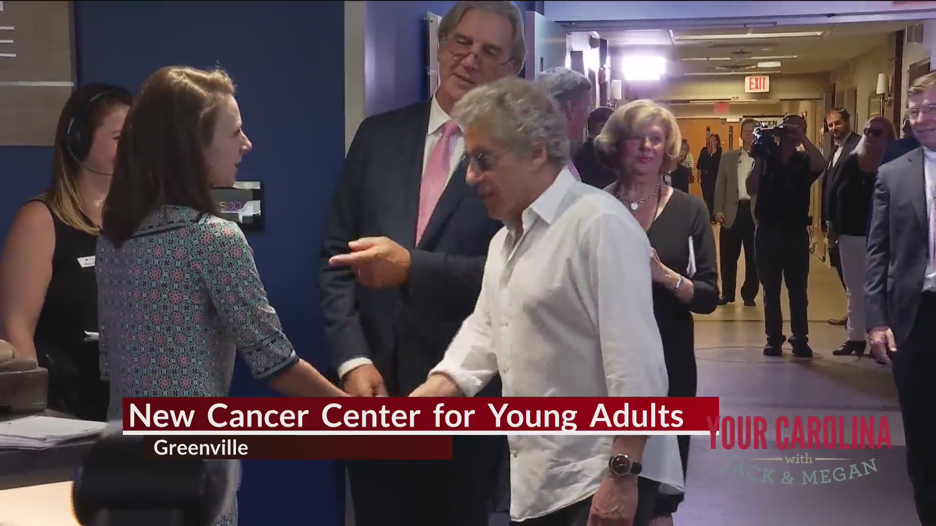 Good News - Roger Daltrey Visits New Cancer Center For Young Adults In Greenville