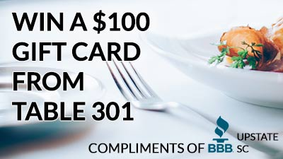Win Table 301 Gift Card