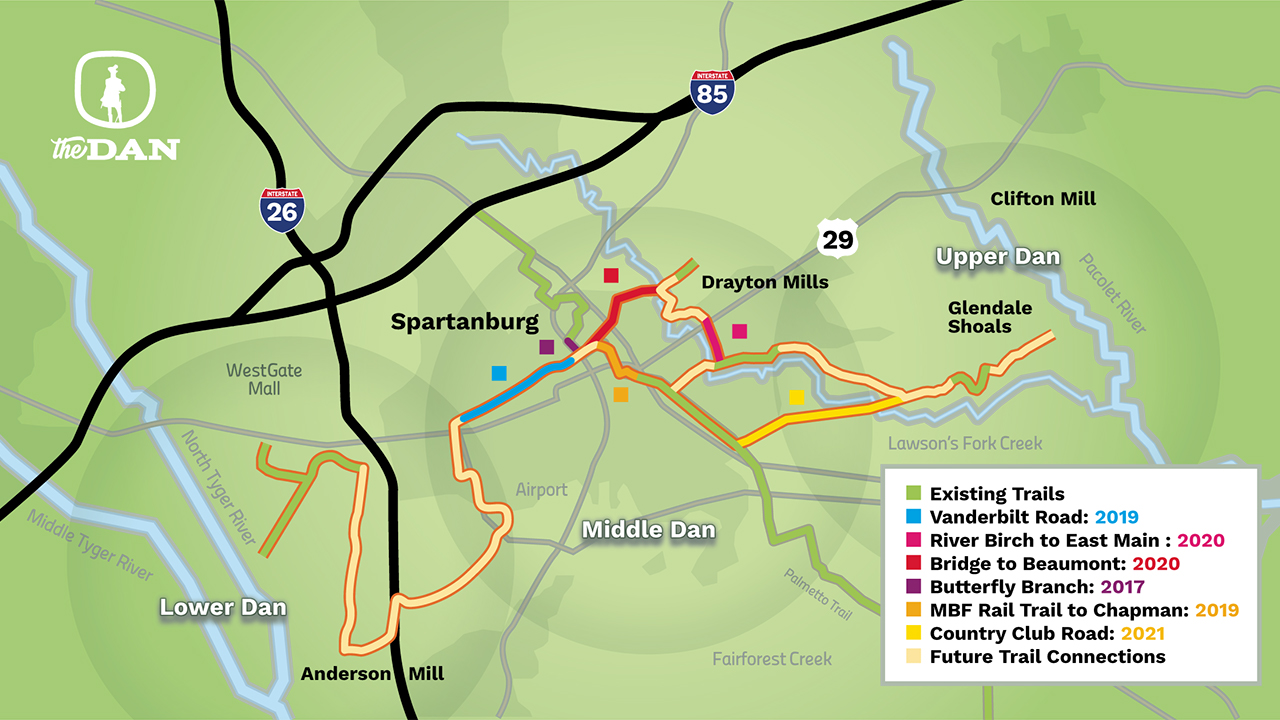 32-mile unified trail system in Spartanburg to be named 'The
