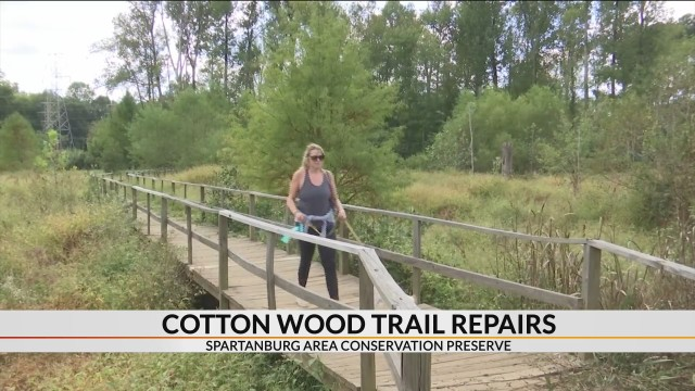 Cottonwood Trail in need of repairs, Spartanburg Area Conservation Preserve raising funds