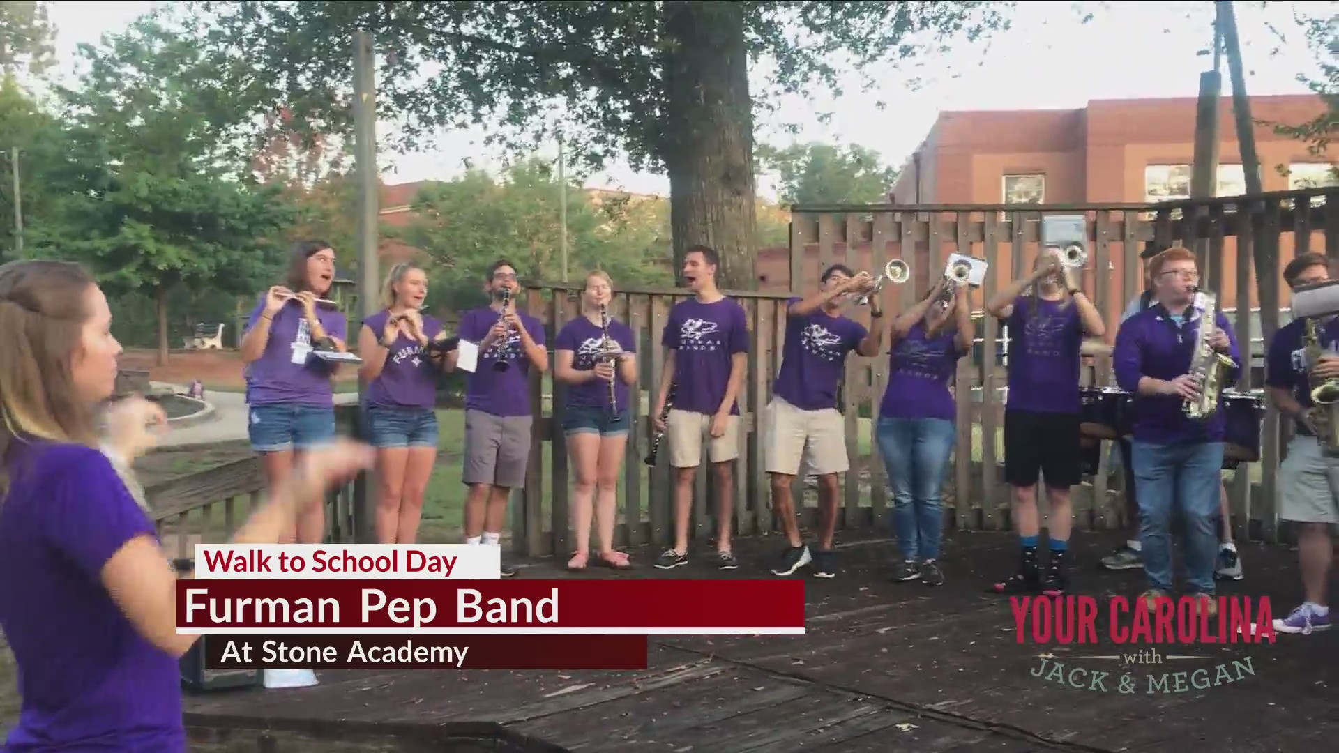 Good News - Furman Pep Band at Stone Academy