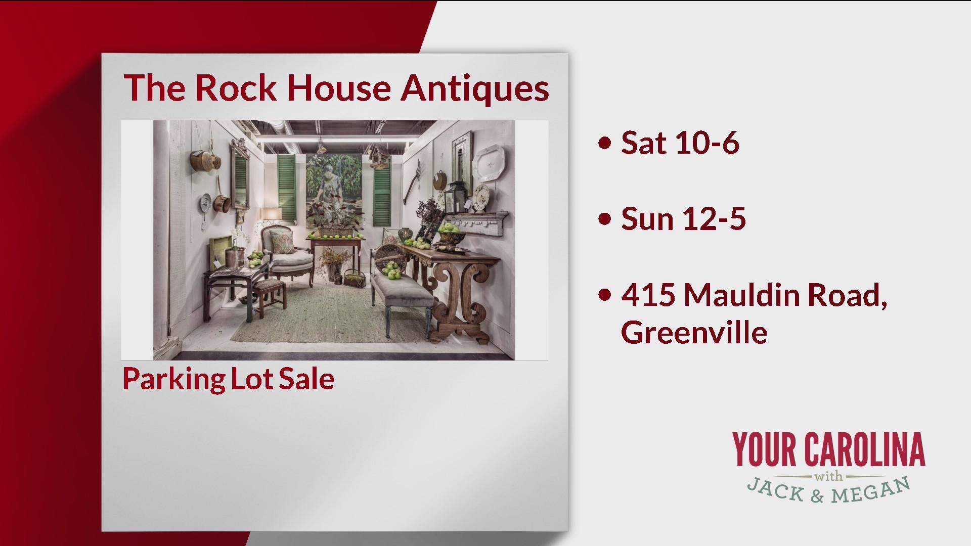 Shop the Lot Sale at The Rock House Antiques