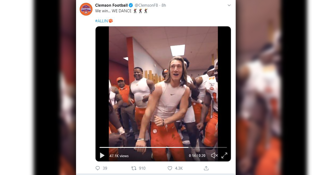 Watch Dabo Swinney Clemson Players Dance In Locker Room
