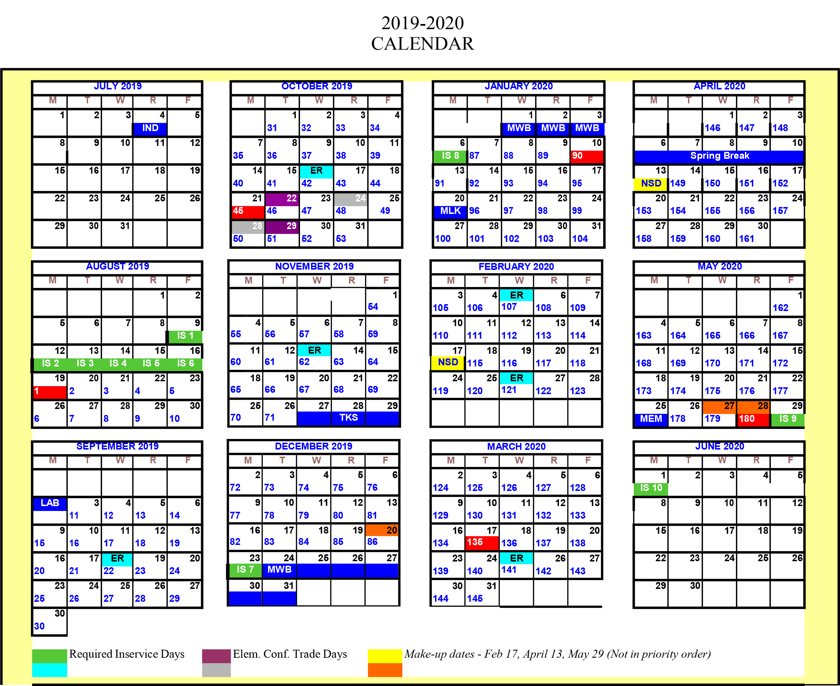 Notre Dame Academic Calendar 2021-2022 Greenwood School District 50 adopts new modified calendars