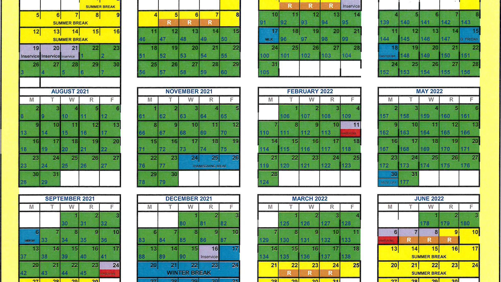 Greenwood School District 50 adopts new modified calendars