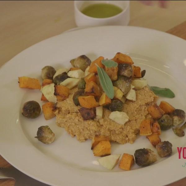 Chef's Kitchen - Pumpkin Polenta with Roasted Vegetables