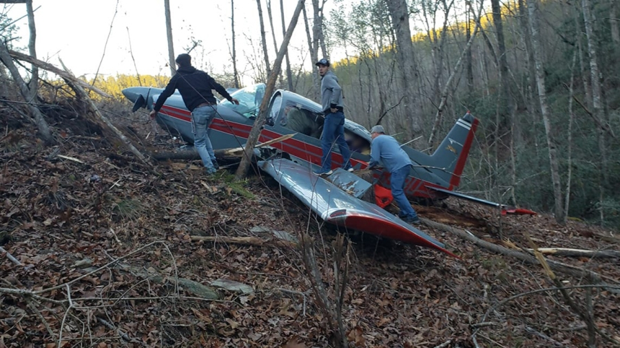 Rutherford County plane crash photo from Shane Moore