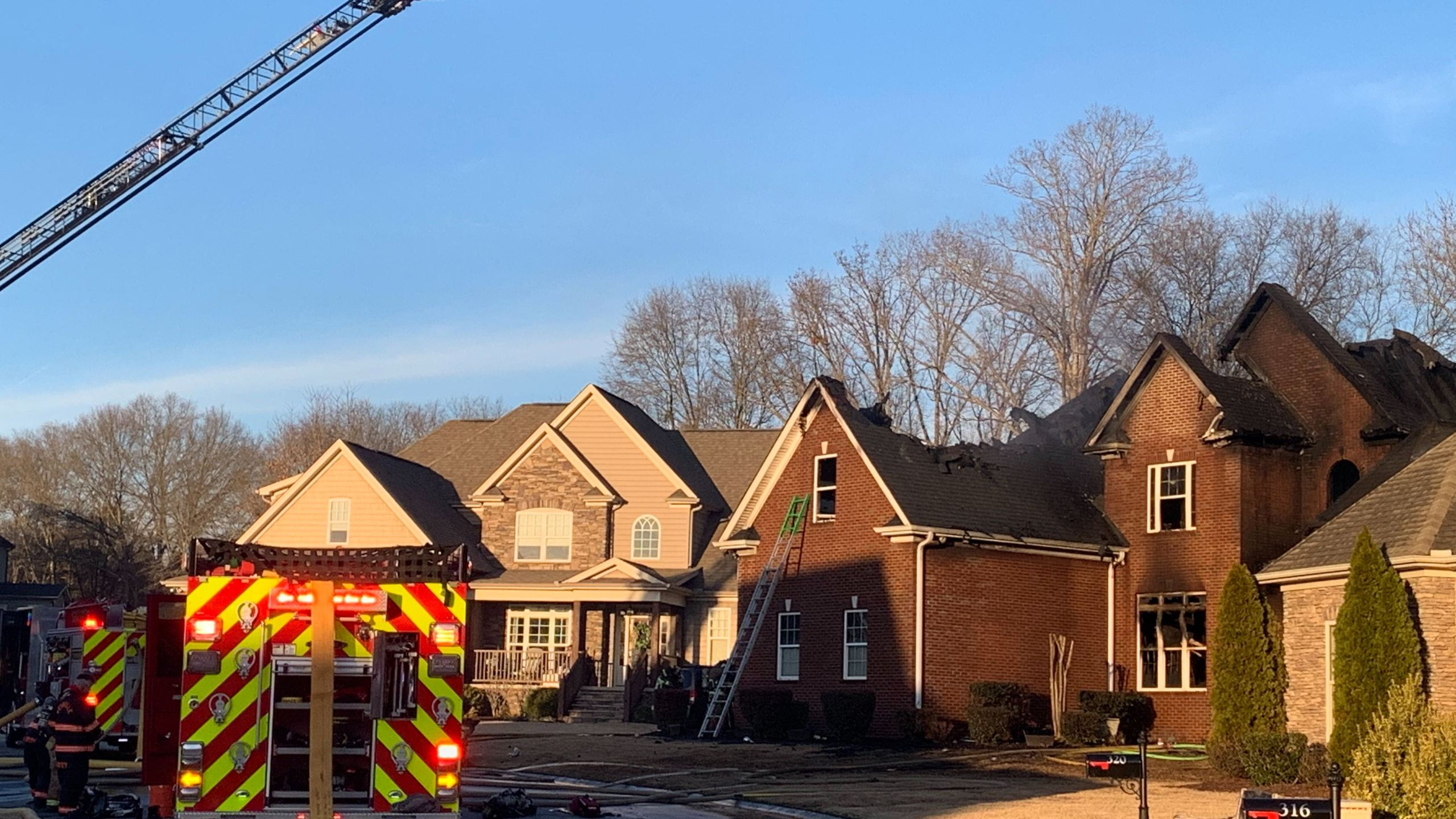 Reidville Town Halloween 2020 Crews respond to house fire at Carters Creek Ct. in Simpsonville