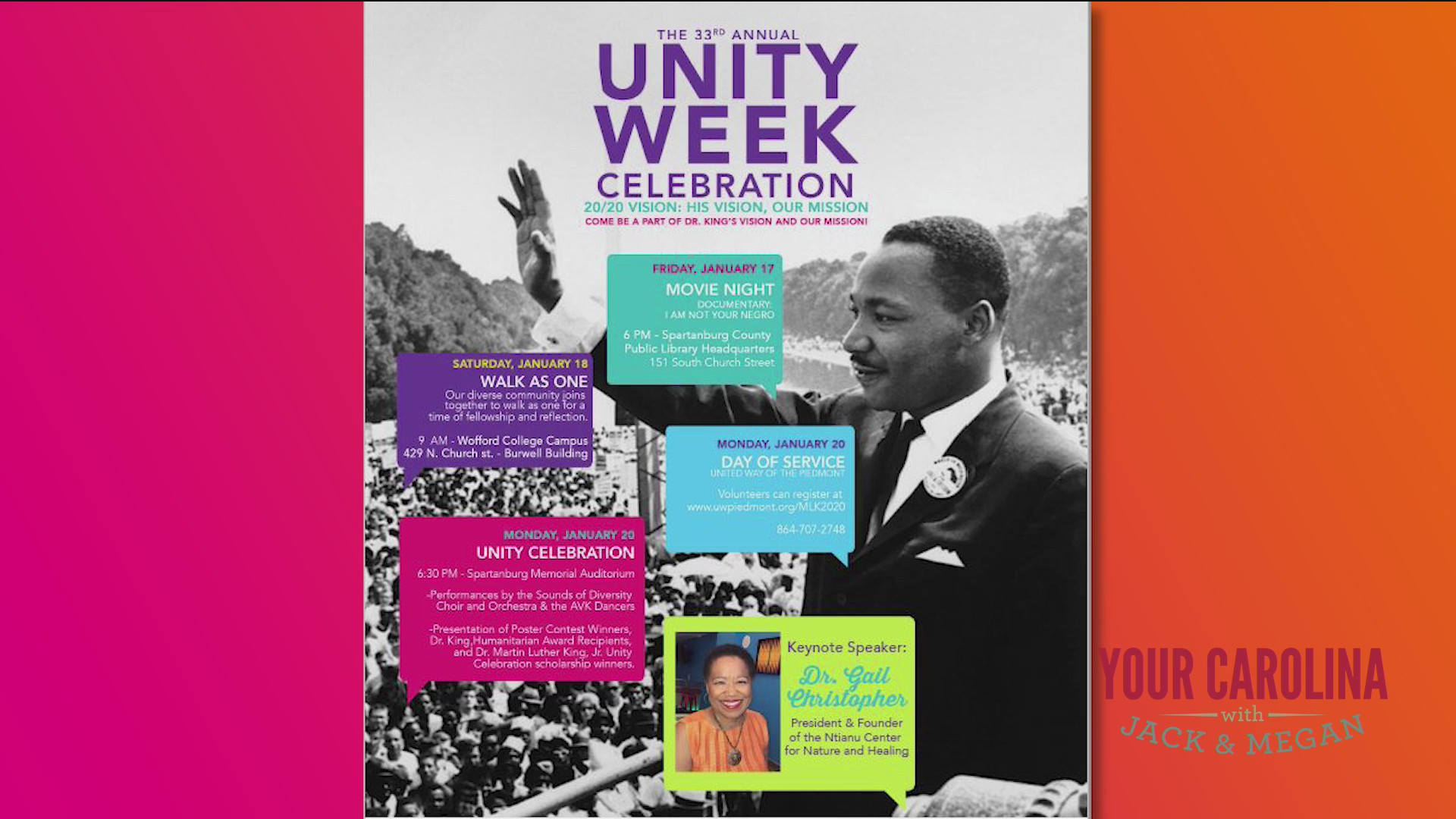 The 33rd Annual Dr. Martin Luther King, Jr. Unity Week Celebration