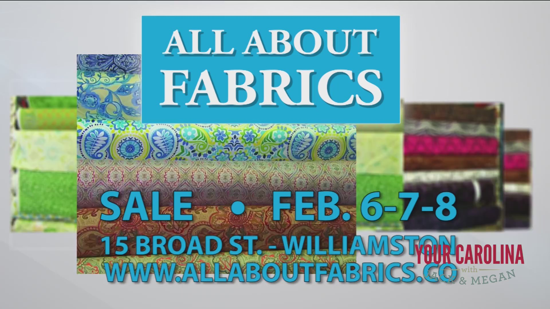 All About Fabrics Open 3 Days Only