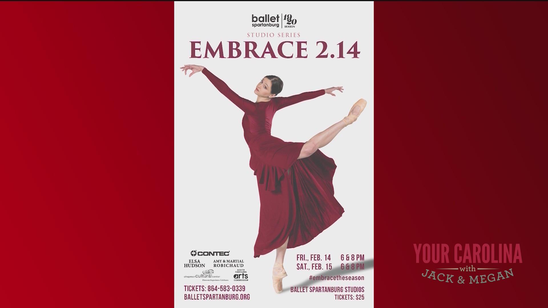 Ballet Spartanburg Presents Embrace 2.14