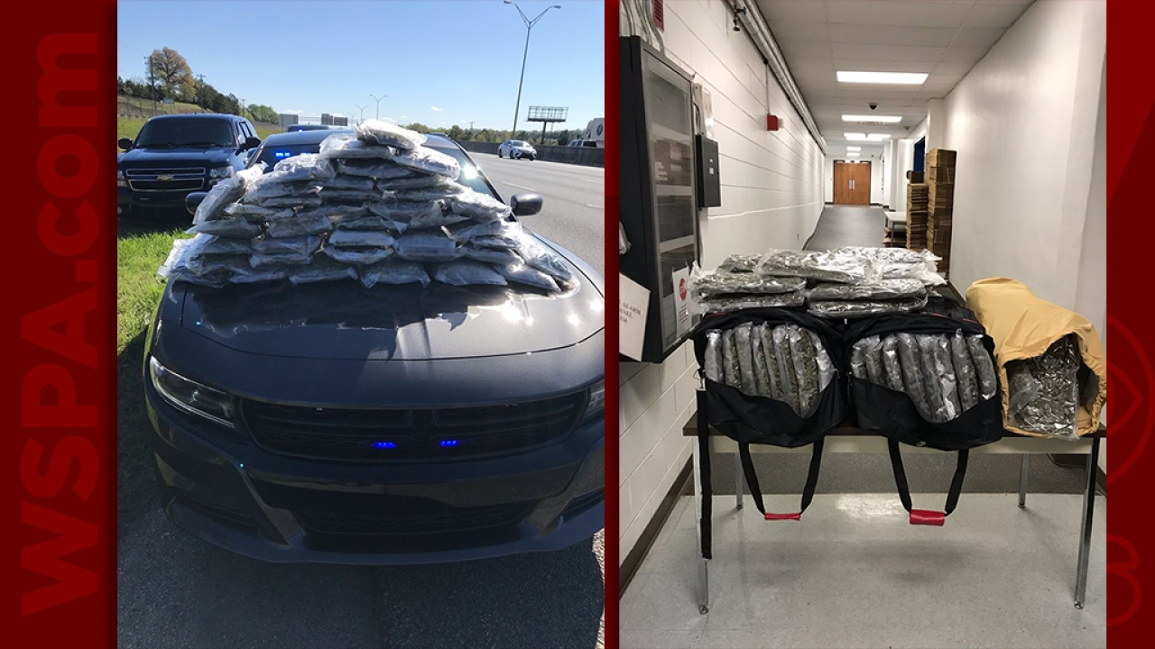 Greenville County traffic stop leads to seizure of 150 pounds of marijuana