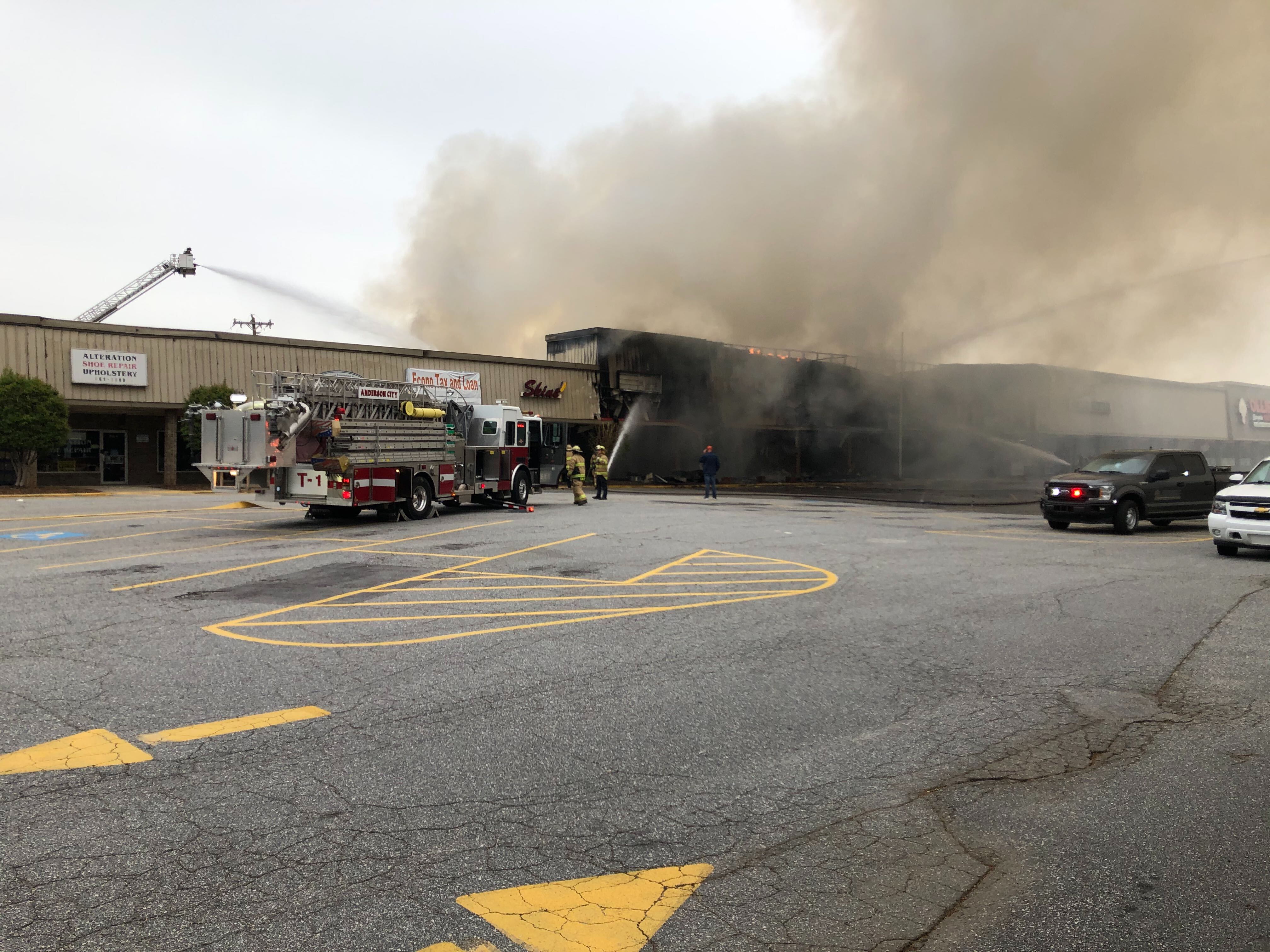 Crews Respond To Business Fires Near Post Office On Clemson Blvd